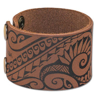 NĀ KOA KA27 Small Hawaiian tattoo cuff - Design: Ola by Marlo Lualemana