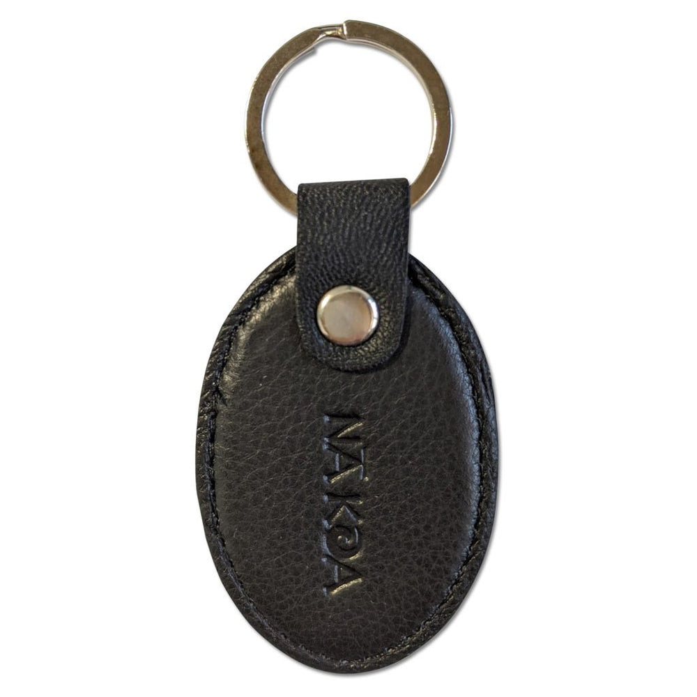 NĀ KOA 4322SS Black Nakoa Key Chain - Black Rectangle
