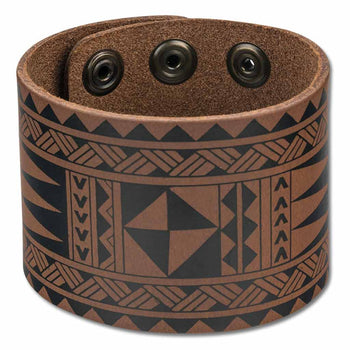 NĀ KOA KA25 Samoan and Tongan tattoo cuff - Design: Malie by Tricia Allen