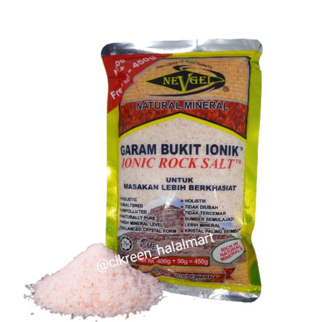 Nevel Garam Bukit Ionik 450g