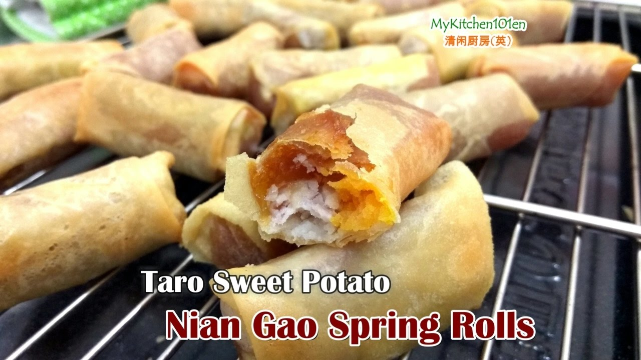 Nian Gao Popia Sweet Potato