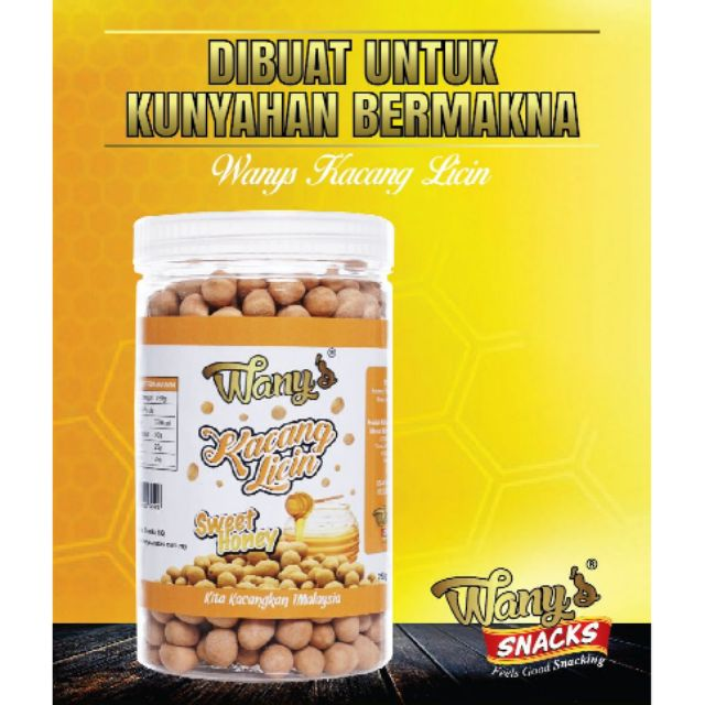 Wany's Kacang Licin Sweet Honey 240g
