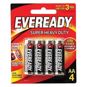 Eveready Super Heavy Duty AA4 (1215BP4)