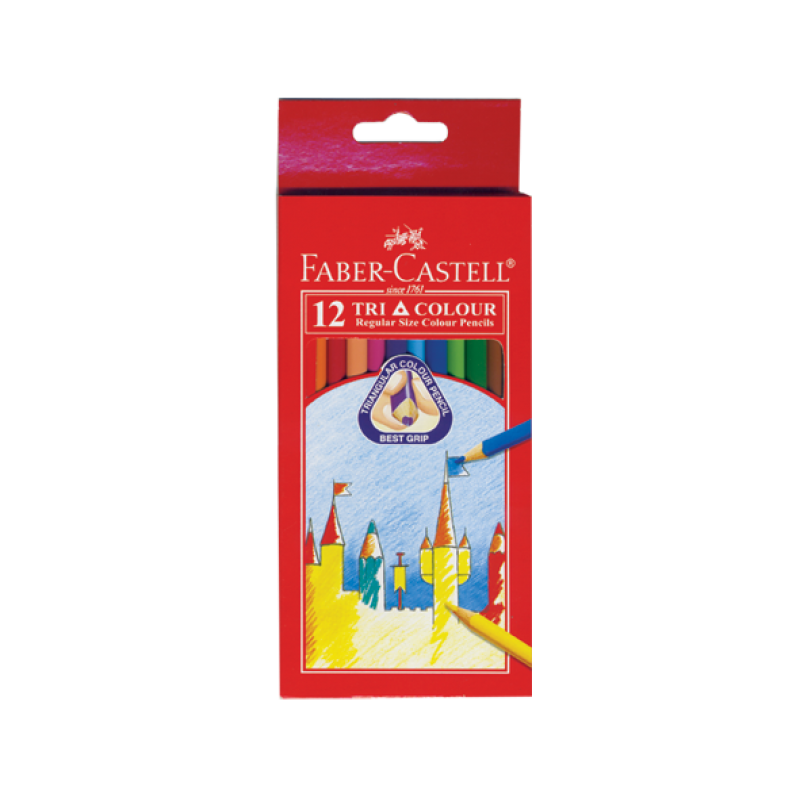 Faber Castell Colour Pencil Long 12s