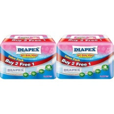 Diapex Soft Baby Wipes 30 Sheets Pack