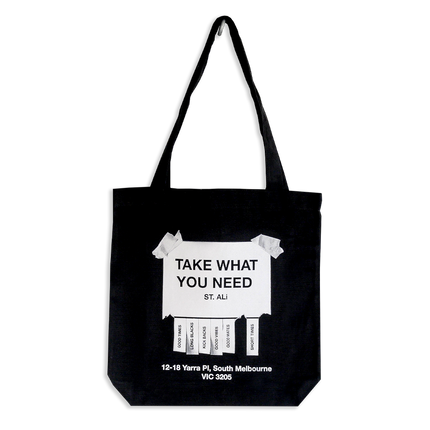 TAKE WHAT YOU NEED TOTE BAG