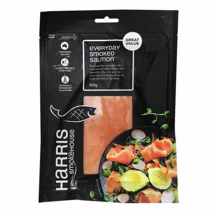 HARRIS EVERYDAY SMOKED SALMON 100G