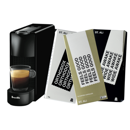 NESPRESSO ESSENZA MINI CAPSULE MACHINE + TRIPLE PACK