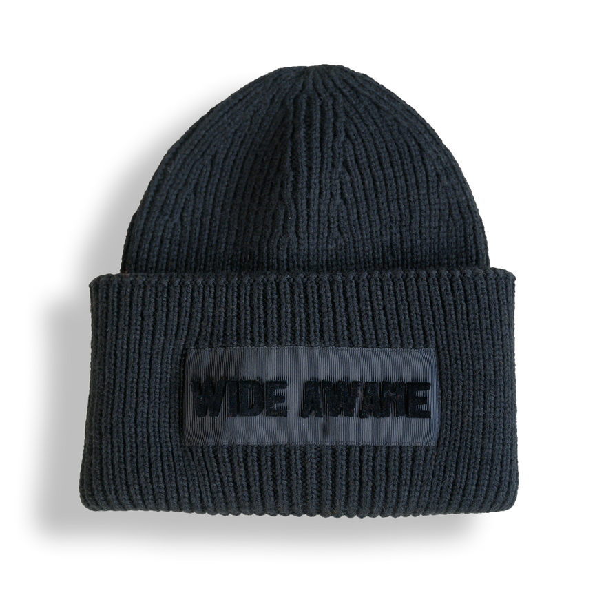 WIDE AWAKE FLOCKED BEANIE