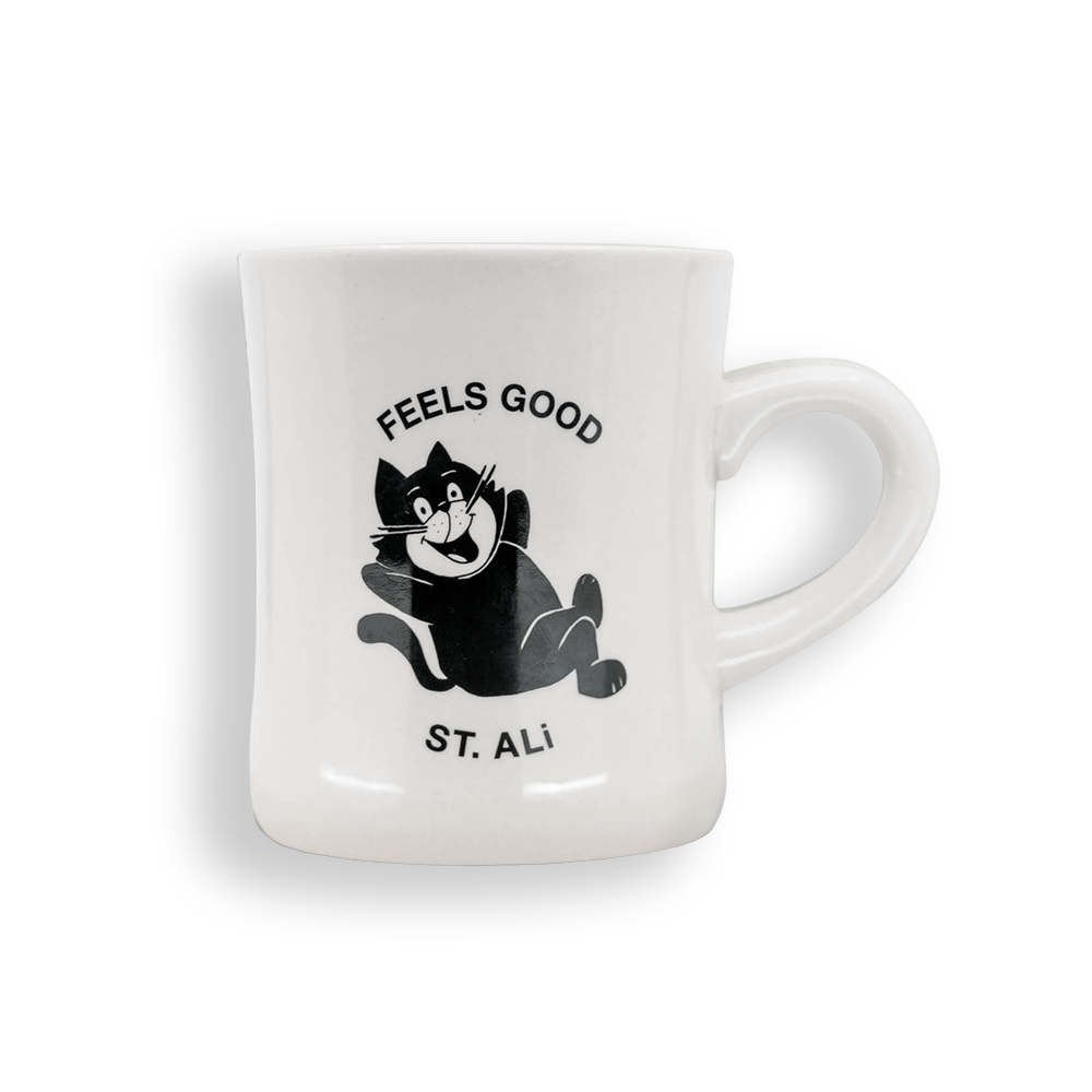 ST. ALi FEELS GOOD CAT MUG