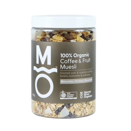 100% ORGANIC COFFEE & FRUIT MUESLI 400g