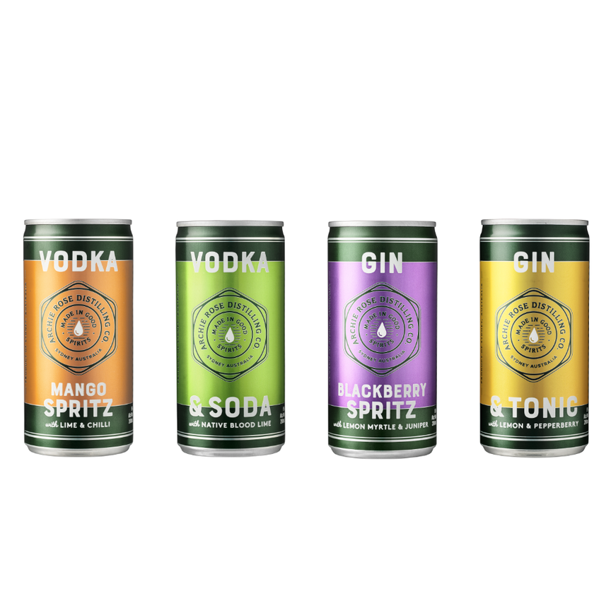 ARCHIE ROSE CANNED COCKTAILS 4-PACK