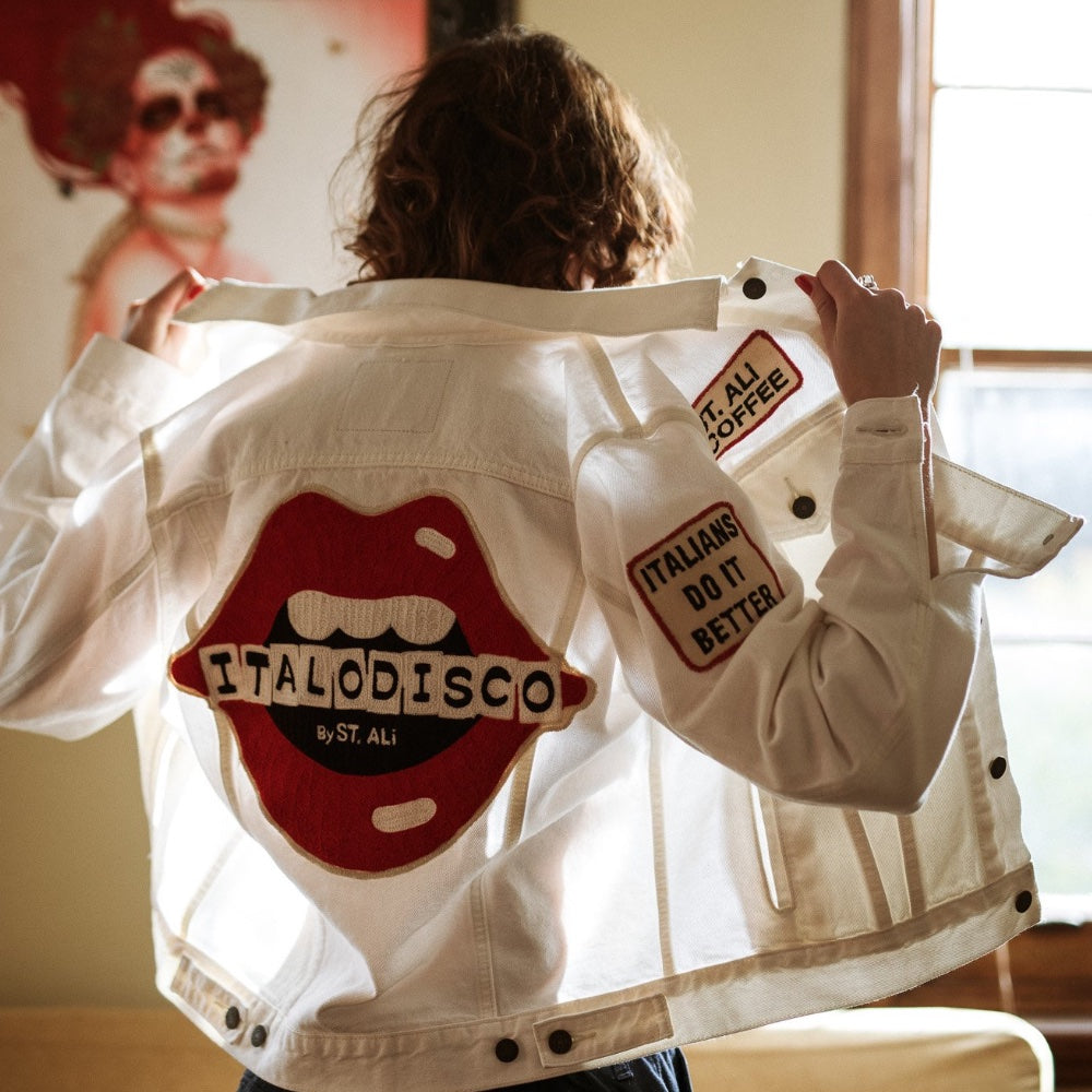 ITALO DISCO WHITE DENIM JACKET