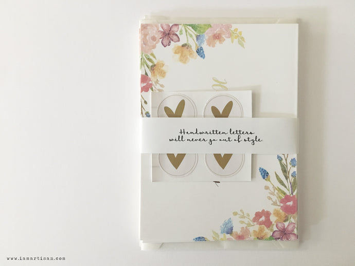 Happy Birthday Greeting Card in Gold Foil Set