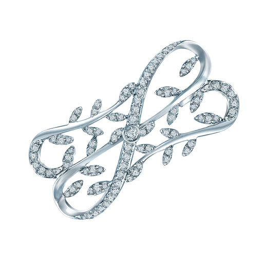 Sophea Diamond Brooch (18K Gold)