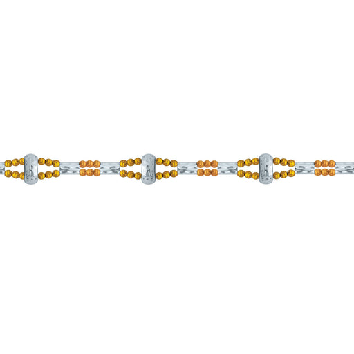 Bijou Bracelet in 18K White, Rose & Yellow Gold