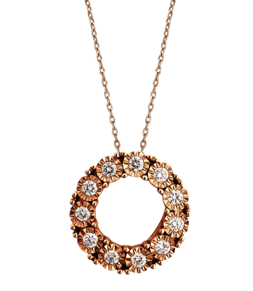 Juwita Diamond Pendant (18K Rose Gold)