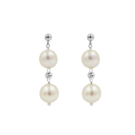 Elizabeth Duo Akoya Pearl Earrings