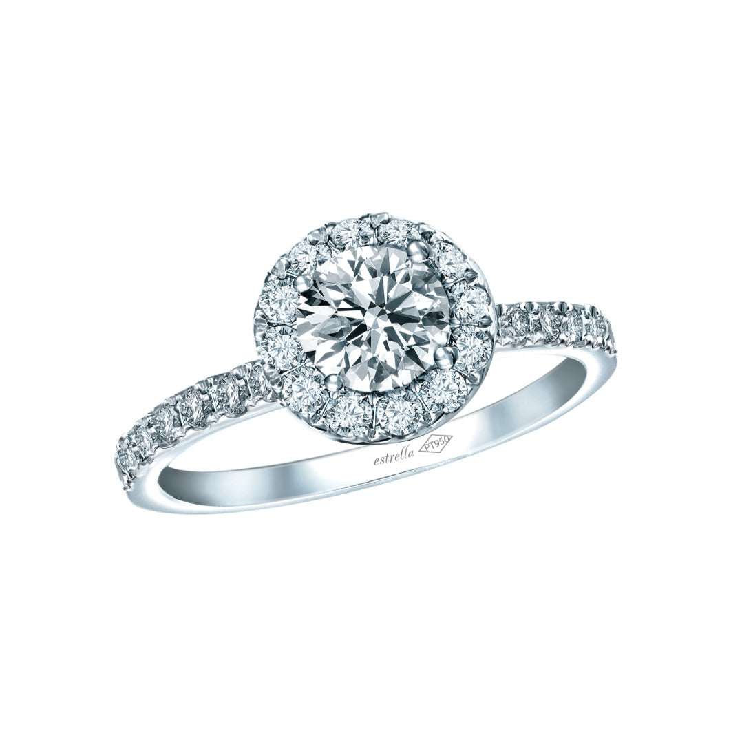 Estrella Halo Diamond Ring
