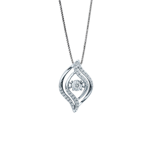Eye of the Beholder Dancing Diamond Pendant (18K Gold)