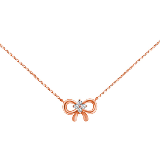 Brilliant Knot 18K Gold Diamond Necklace