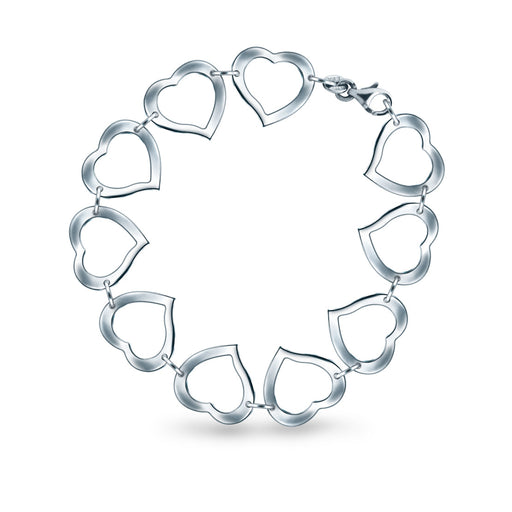 Beading Heart Bracelet in 18K White Gold