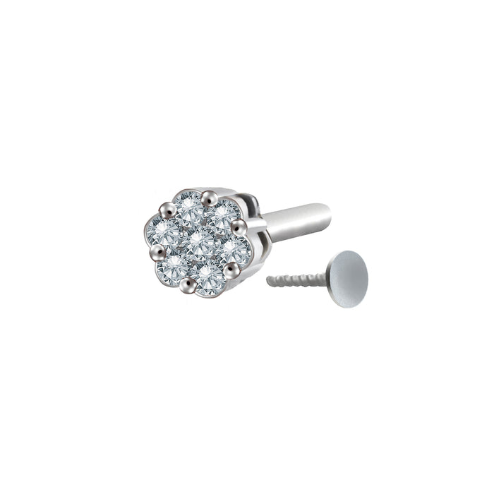 Mira Diamond Nose Stud (18K Gold)