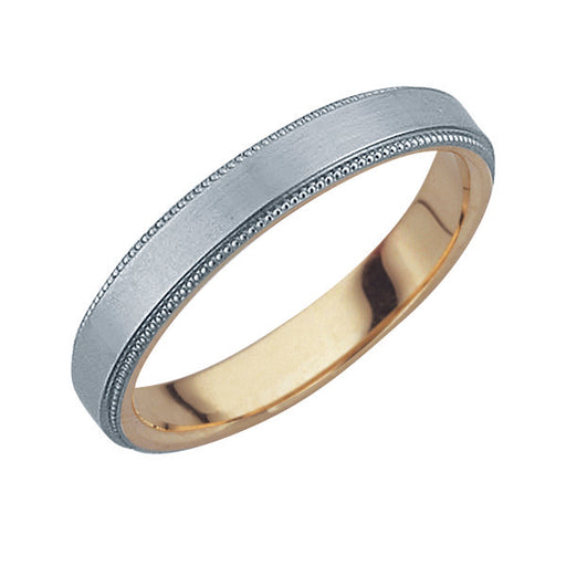 Harmonious Unity Female Wedding Ring (Platinum & 18K Gold)