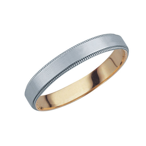 Harmonious Unity Male Wedding Ring (Platinum & 18K Gold)