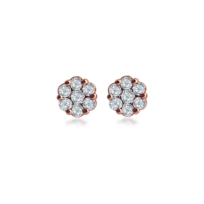 Luminiscent Bloom Diamond Earrings (18K Gold)