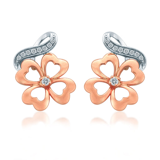 Flora Grace Diamond Earrings (18K Gold)