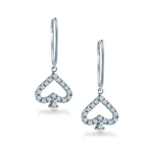 Spade Diamond Earrings (10K Gold)