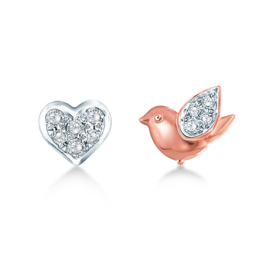 Lovely Bird Diamond Earrings (10K Gold)