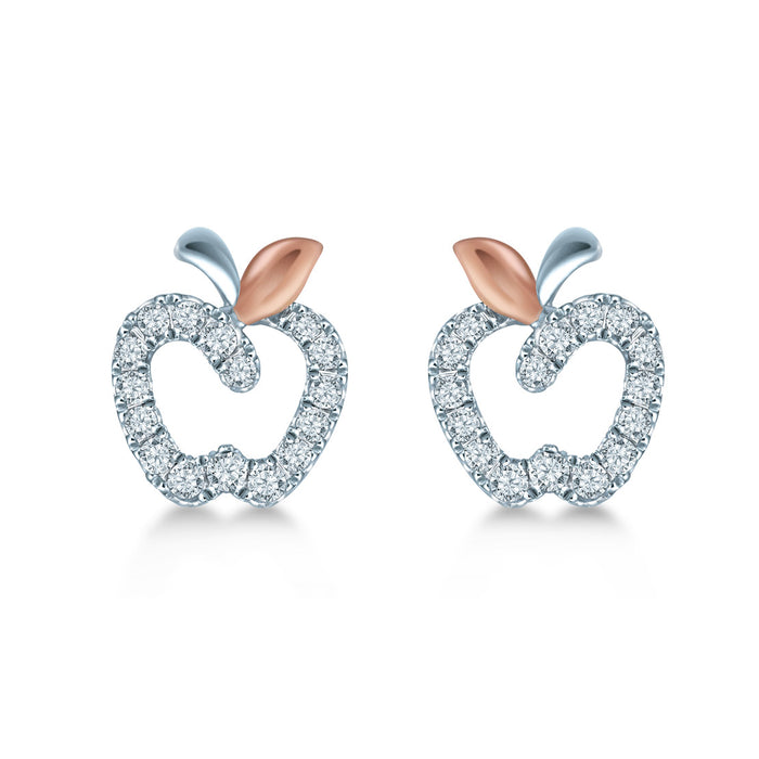 Pomme De Jardin Diamond Earrings (10K Gold)