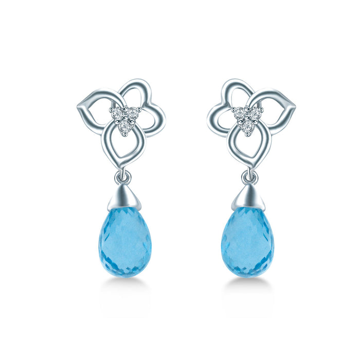 Aqua Gleam Earrings