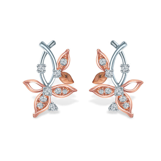 Glimmer Leaves Diamond Earrings (10K Gold)