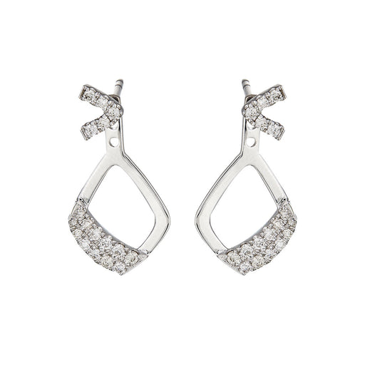 Zulla 2-Way Diamond Earrings (10K Gold)