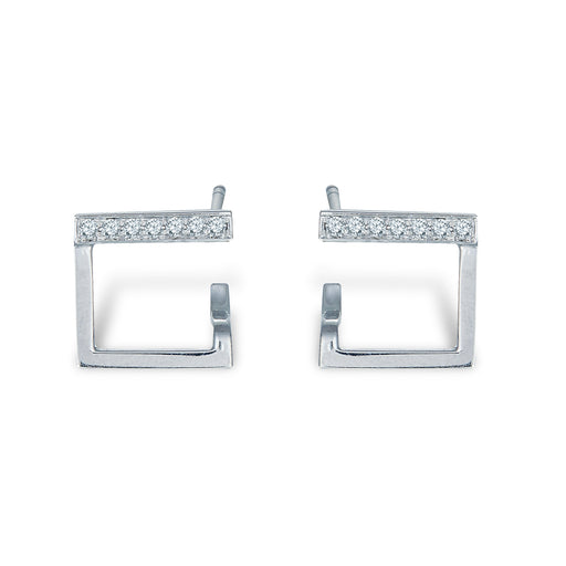 Enzo Diamond Studded Earrings (10K Gold)