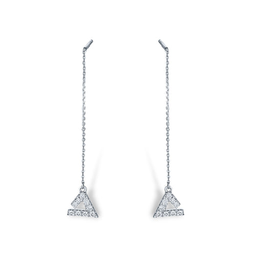 Trinary Diamond Earrings (10K Gold)