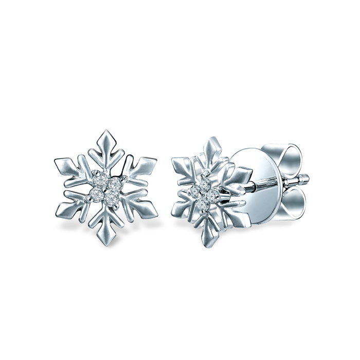 Snowflake Embrace Diamond Earrings (18K Gold)
