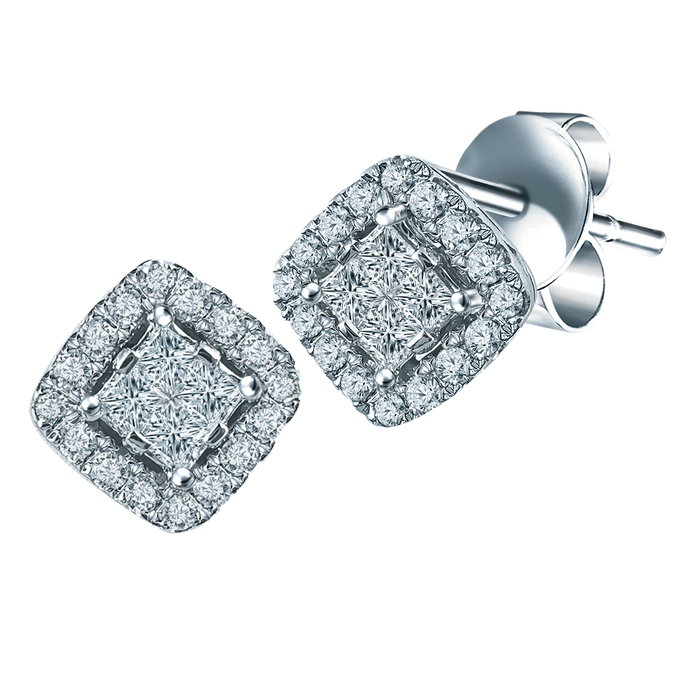CNY Harmonious Gleam 18K Gold Diamond Earrings