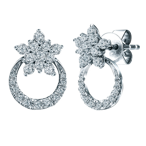 Merry Sparkle 2-Way 18K Gold Diamond Earrings