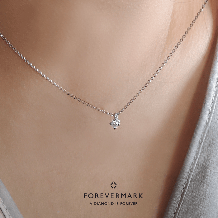 Forevermark Setting Diamond Necklace with Chain (18K Gold)