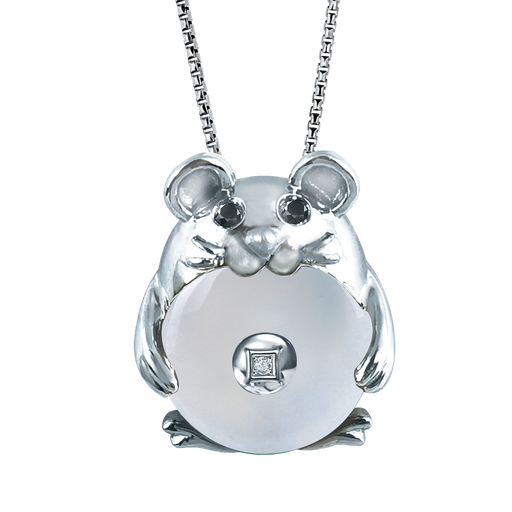 CNY Rat of Fortune 10K Gold Diamond Pendant