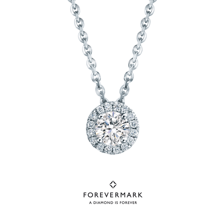 Forevermark Diamond Necklace with Chain (18K Gold)
