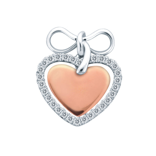 Lovers Bond 18K Gold Diamond Pendant