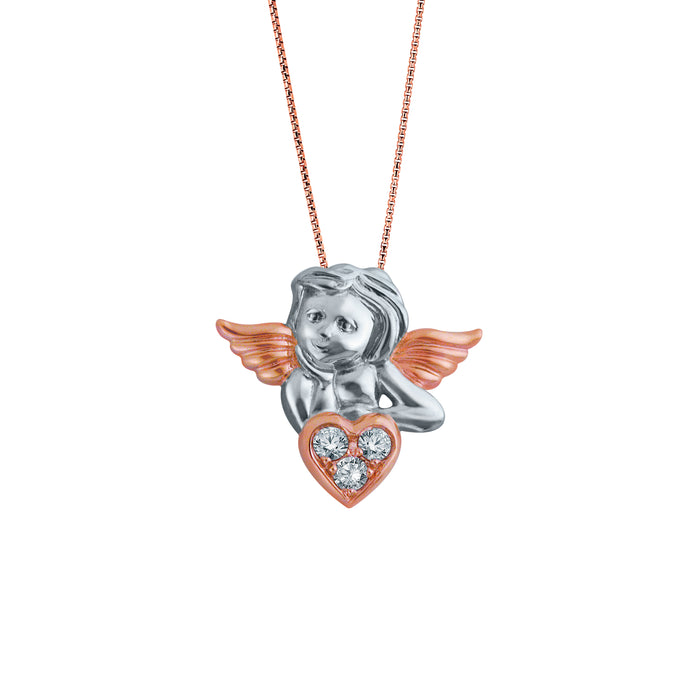 Bedazzled by Cupid 18K Gold Diamond Pendant