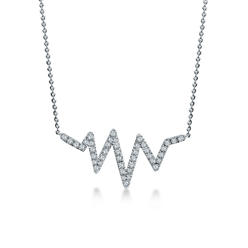 Heartbeat Diamond Necklace (10K Gold)