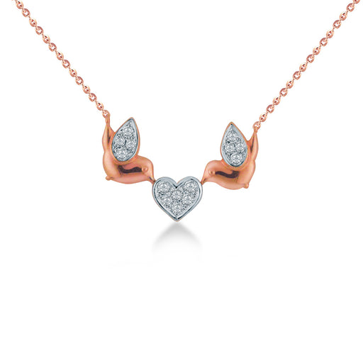 Lovely Bird Diamond Necklace (10K Gold)