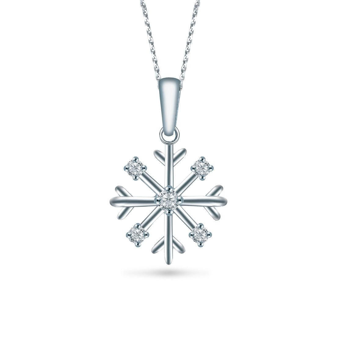 diamond silver hanl jewelry snowflake com carat white dp amazon gold necklace pendant
